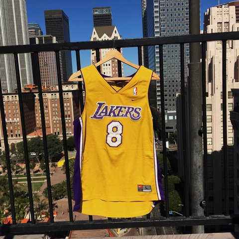 dec850b8c94 Stitched Nike Team Los Angeles Lakers Kobe Bryant  8 Jersey - Depop