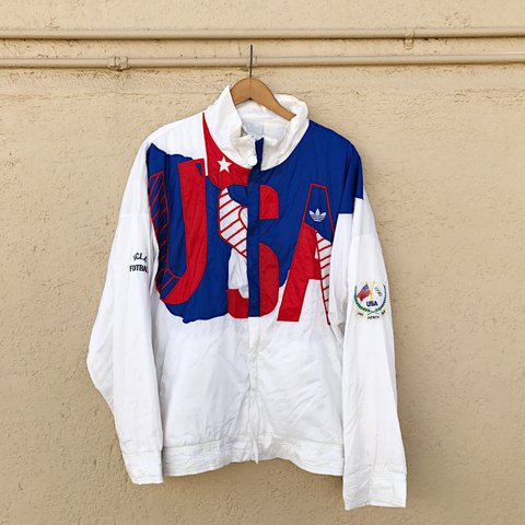Vintage 80s Adidas USA Olympic Team Exclusive Windbreaker A - Depop 15b297c5a