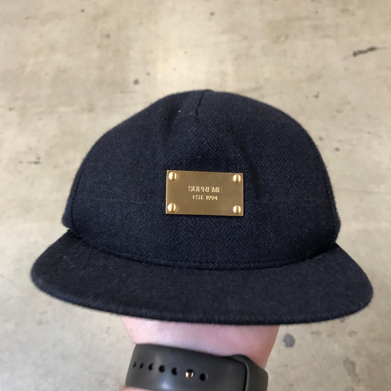 Supreme Wool Gold Plate Hat... Great Condition. - Depop 8b6f09f76f3