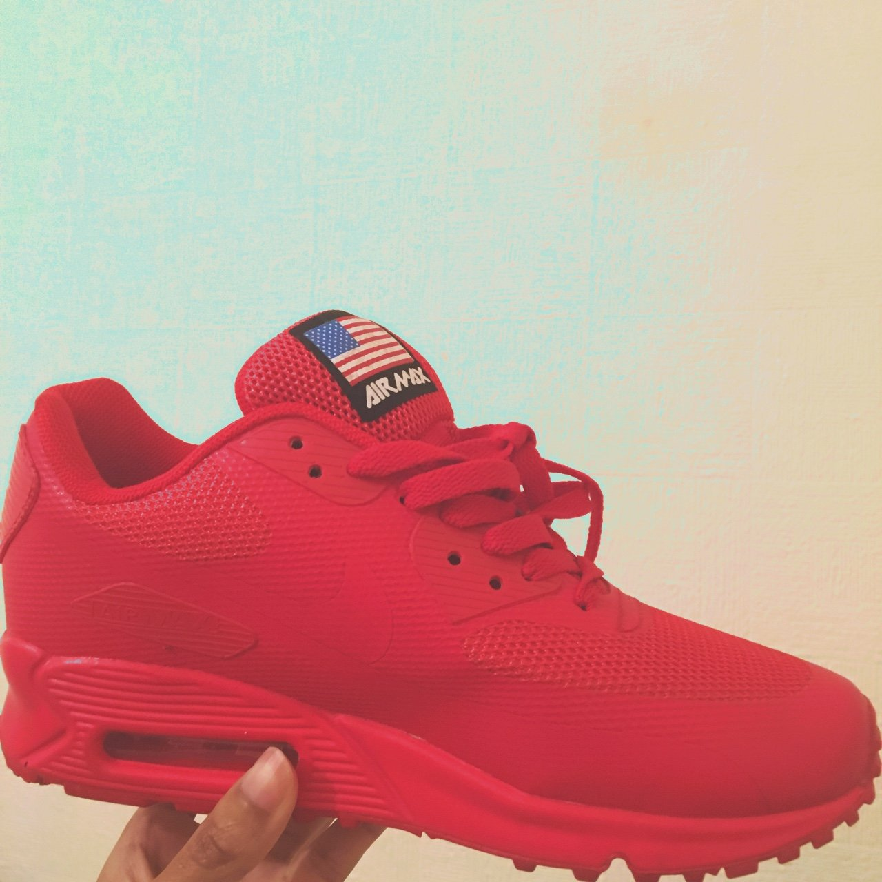 Nike Air Max 90 USA Flag Hyperfuse QS Size 36 3. This was a - Depop 296195101a
