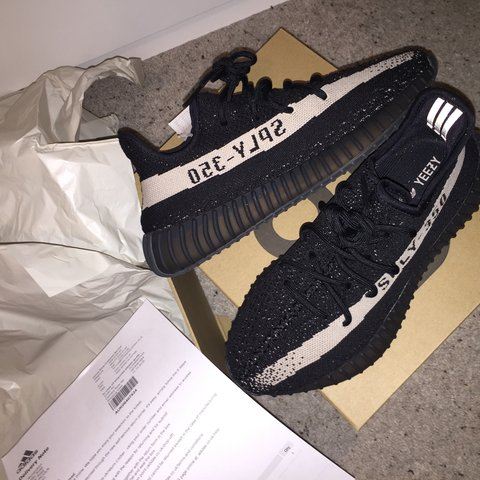9e542590bee3a Brand New Black White Adidas Yeezy V2 in Box with receipt