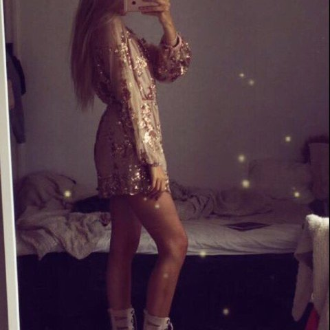 4f70123f484 Sequin rose gold playsuit. RRP £40 as seen on Jess Wright. - Depop