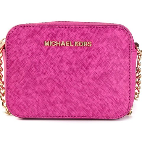 b1cb4604095a GENUINE Michael Kors mini crossbody bag in the shade fushia - Depop