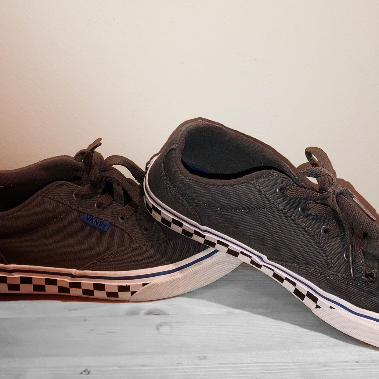 finest selection good nice shoes grey check vans pd