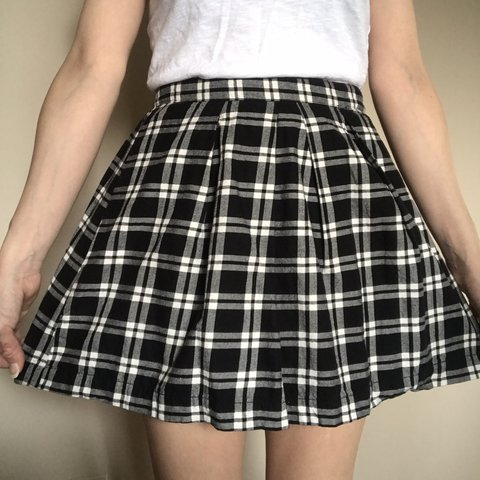 ba979b4d9 @kimberlymichele. 4 months ago. Oak Forest, United States. Black and white plaid  pleated schoolgirl style skirt!