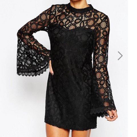 a4f4ded051745 @r0ckaholic. 6 months ago. Dagenham, United Kingdom. Missguided Black Bell  Sleeve Lace Dress ...