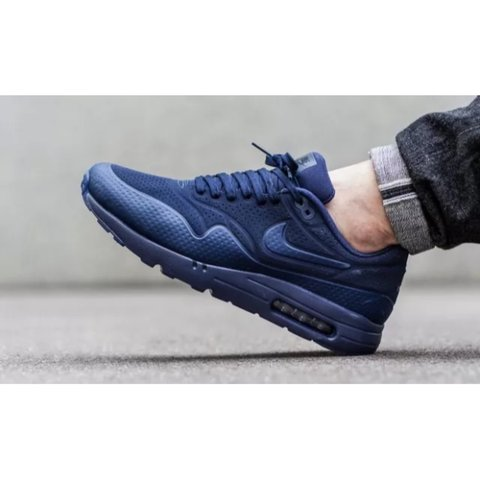 free shipping 790e2 662c9 Nike air max 1 ultra moire midnight navy blue UK SIZE 9 of - Depop