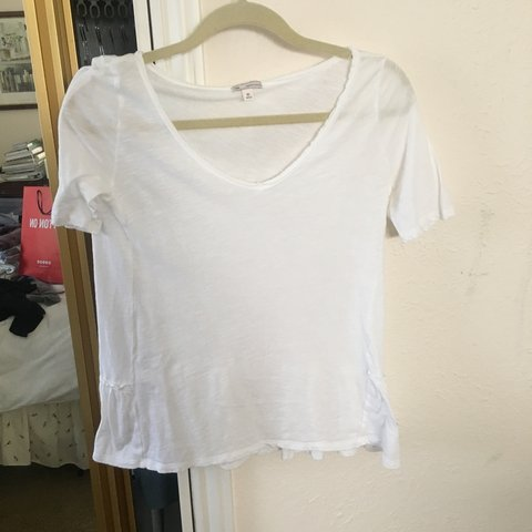 410f1b79a35 Gap white peplum t shirt. Size xs. No holes or stains - Depop