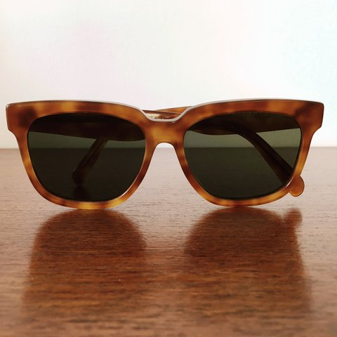 8e141dc0e4 CÉLINE sunglasses. Unisex style in blonde tortoiseshell with - Depop