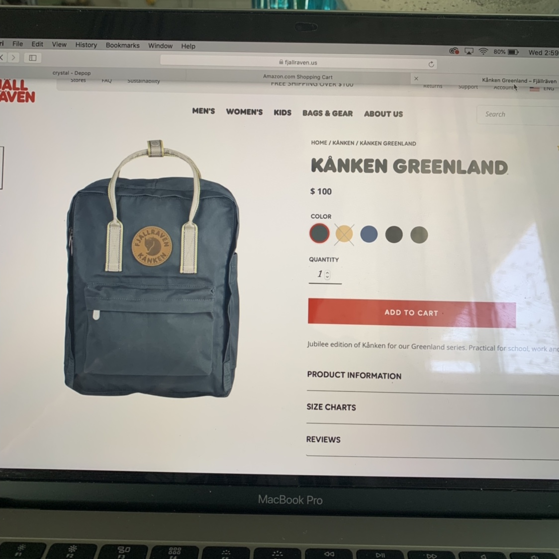Pre-loved Kanken Greenland Backpack in Dusk Color /    - Depop