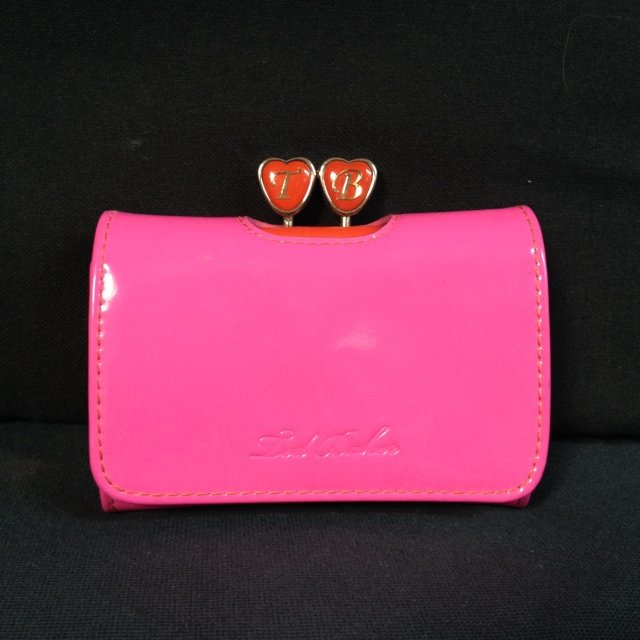 fe1dea5cf Ted Baker purse NEVER USED. Hot pink with red interior heart - Depop