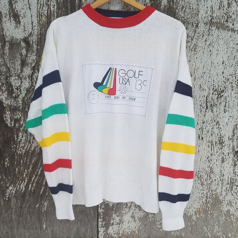 7ecd69d53f 💚💙❤RAINBOW STRIPED SWEATER ❤💙💚 There s sooo much to love - Depop