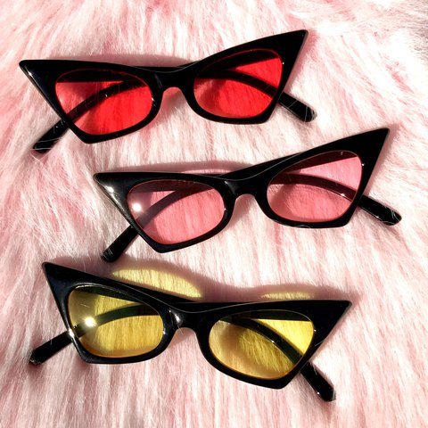 b89d91a8bbb Badass retro cat eye sunglasses with black frames and tinted - Depop