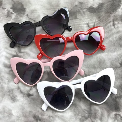 f5a576da3a Cateye Heart Sunglasses in 4 awesome colors to choose from ~ - Depop
