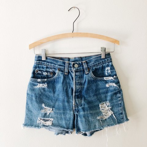 b5e86353 @lillyybearr. 11 months ago. Dunedin, United States. Vintage Levi's 501  Button Fly High Rise Shorts🤩