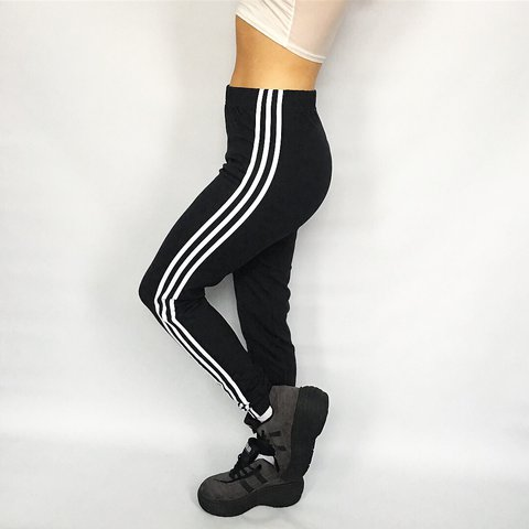8c07c8257d085d @frankiesthrifts. last year. Bournemouth, United Kingdom. Vintage Adidas  leggings // best fits 10-12 // model is size ...