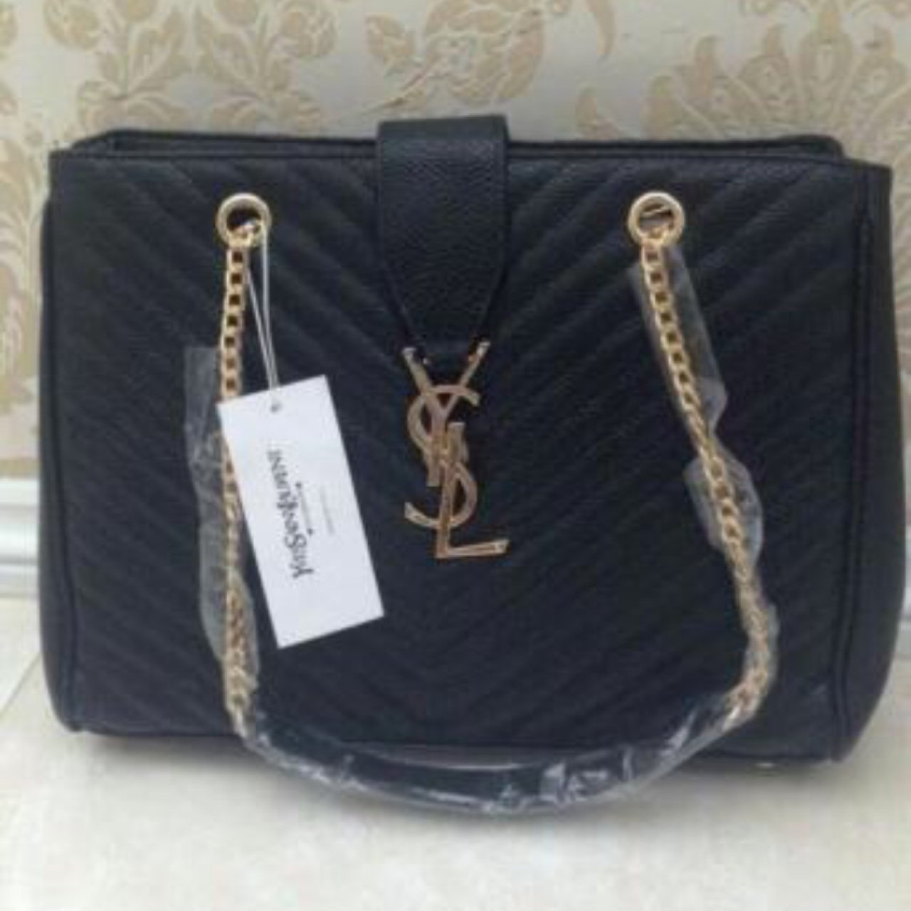 e236ec75a0 @zoeyyyy. 3 years ago. Manchester, UK. Ysl bag in black with gold ...