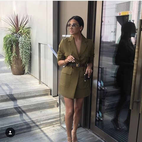 9fb56b9e6966 @yjj. 8 months ago. Droitwich, United Kingdom. Zara khaki linen jacket  blazer dress. Brand New!