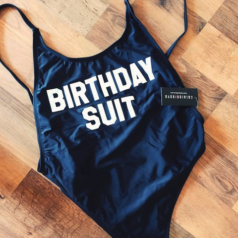 New Never Been Worn Black Birthday Suit Swimsuit From Fit Depop