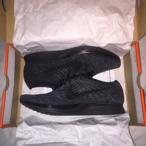 026fc058abad5 ... womens shoes size 5d8bf 50a08  real nike flyknit racer triple black.  mens size 9 fits true. 3 depop 5ea47