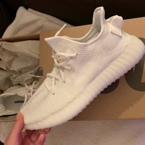f301a8a8e ADIDAS YEEZY BOOST 350 V2 TRIPLE WHITE sneakers   • NEW. - Depop
