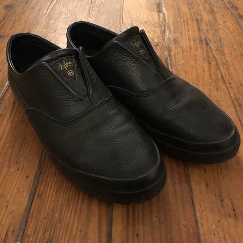 6bb6688f72b Huf Dylan Rieder slip on shoes. Black leather. Size 8.5 - Depop