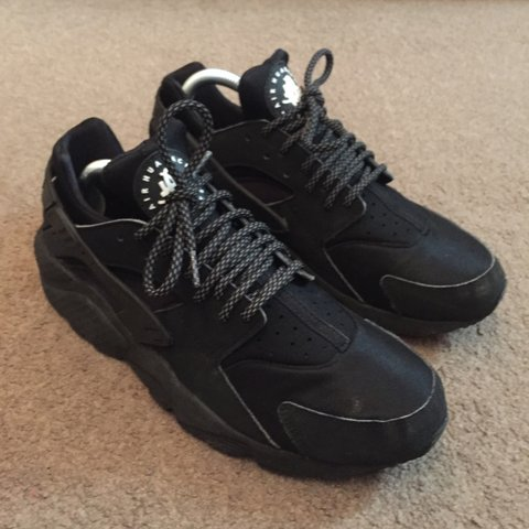 sports shoes 35eec d00c6  benshaw97. 4 years ago. Hayes, Greater London, UK. Nike Air Huarache  Triple Black with 3M ...