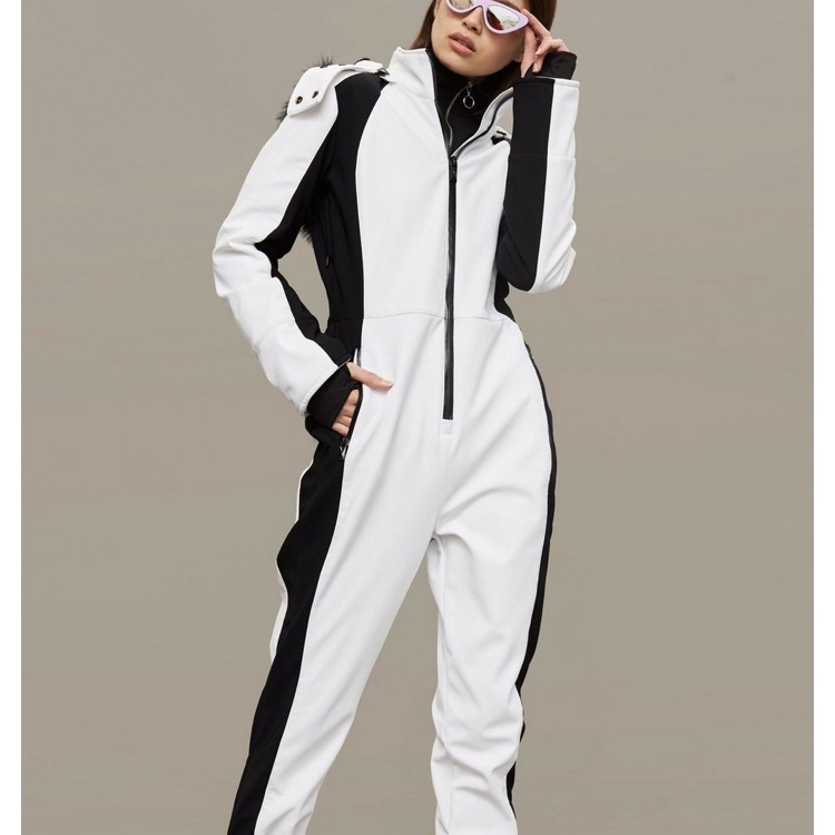 TOPSHOP SNO Black And White All In One Jersey Ski Suit ALL Sizes