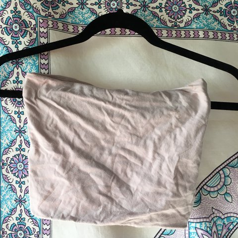 22d82fe8b2376 light pink Brandy Melville tube top So cute and comfy Fits - Depop