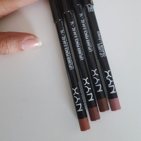 Nyx Lip Liners In Soft Brown Coffee Earth Tone Pale Pink Depop