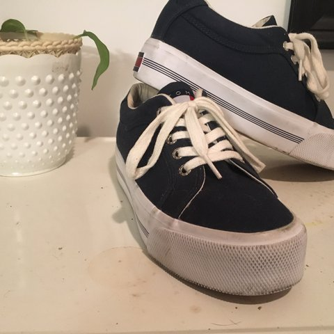 18893430 @specans. last year. Memphis, United States. Authentic 2000's Navy Blue Tommy  Hilfiger platform sneakers.