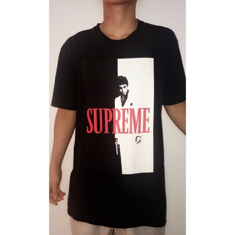 82c72c78f5d2 100% authentic Supreme Scarface Split Tee Black... - Depop