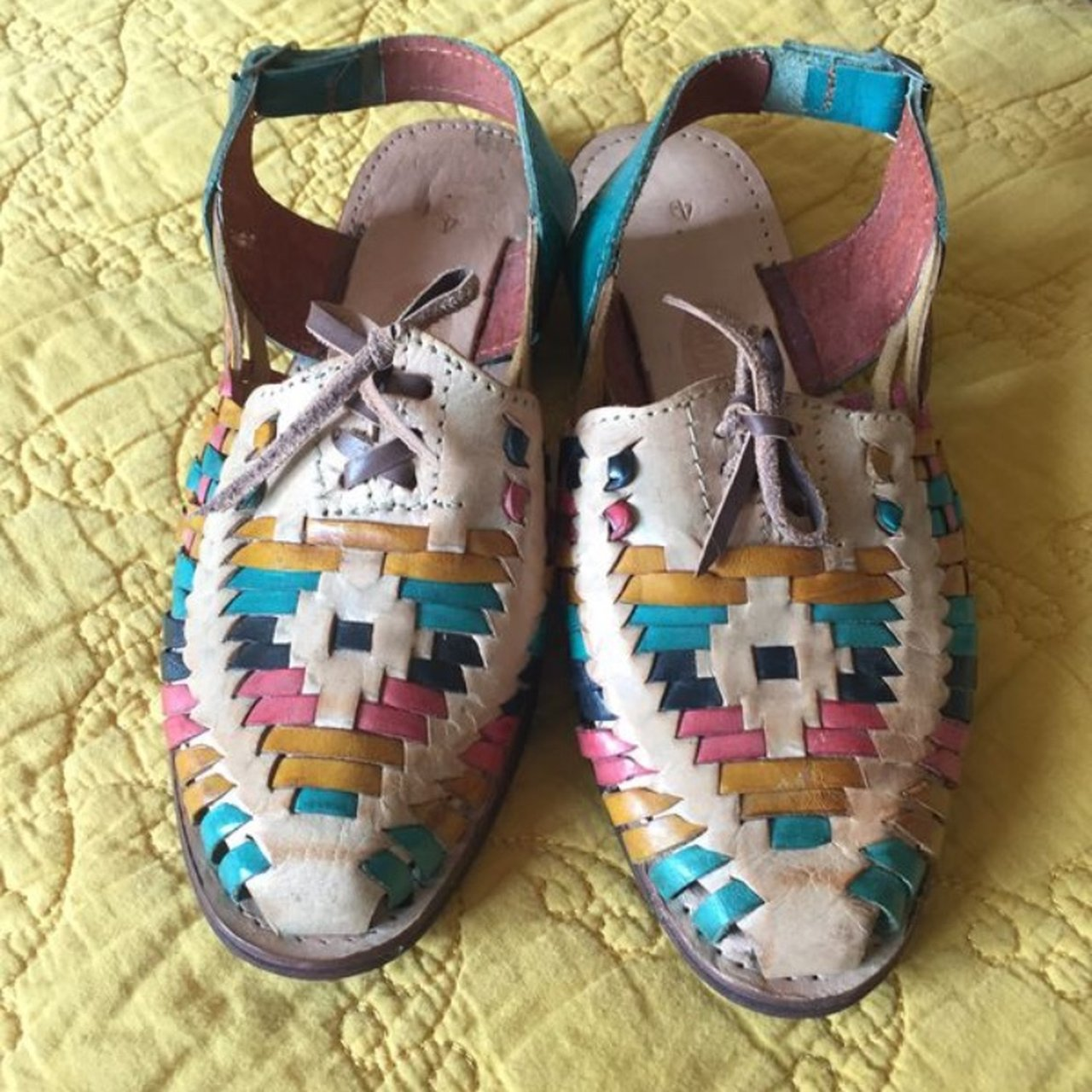 06c42943dcf429 Never been worn authentic Mexican leather huaraches. I wish - Depop