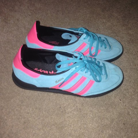 Adidas Jeans trainers size 6.5 light blue