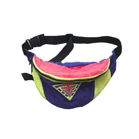 f1577fd33b4a Retro 90s Rave Hip Bag Colour: Yellow/Purple Size: Small so - Depop