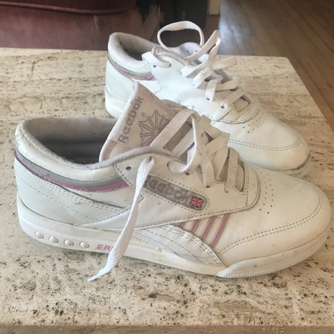 Cute Reebok classic sneakers trainers tennis shoes. White - Depop dfb49c001