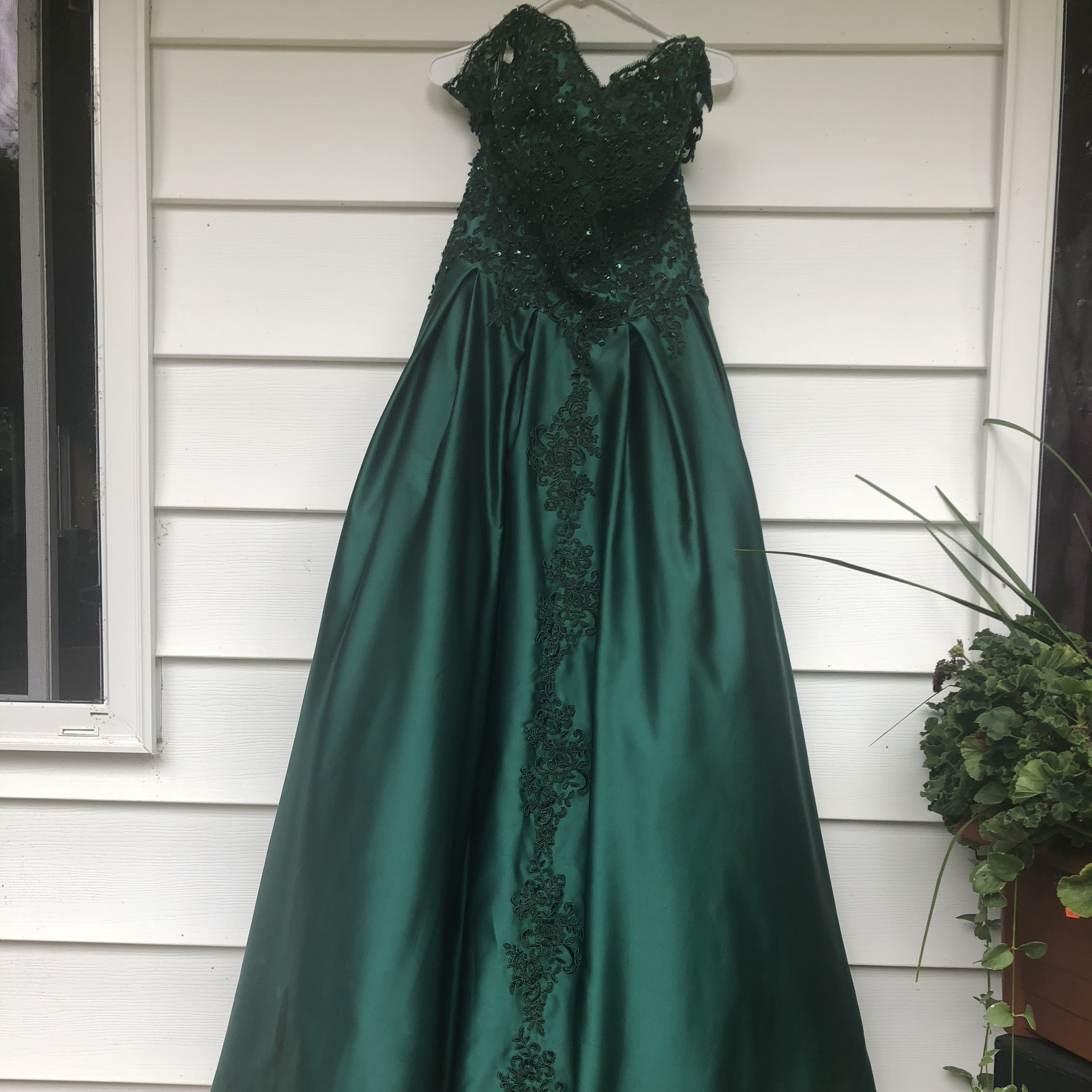 new arrival delicate colors differently 👗HEBEOS PROM DRESS👗 - enchanted green dress - i am... - Depop