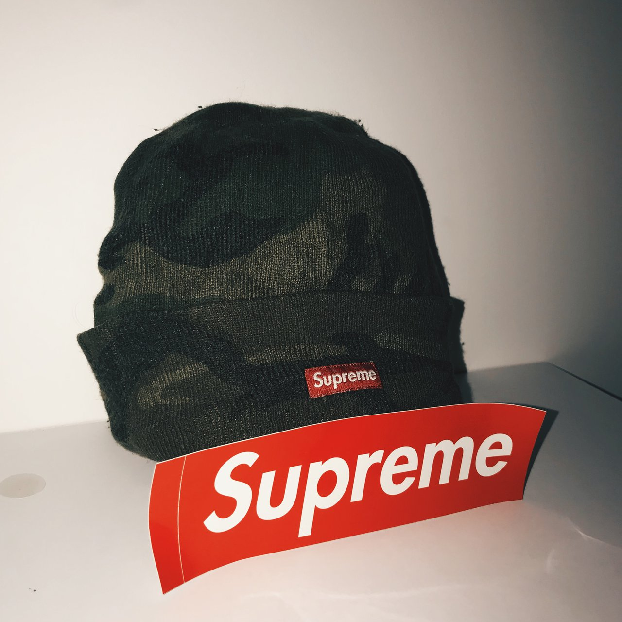 3be3a01a18e Supreme camo beanie hat selling cheap! Good for winter From - Depop