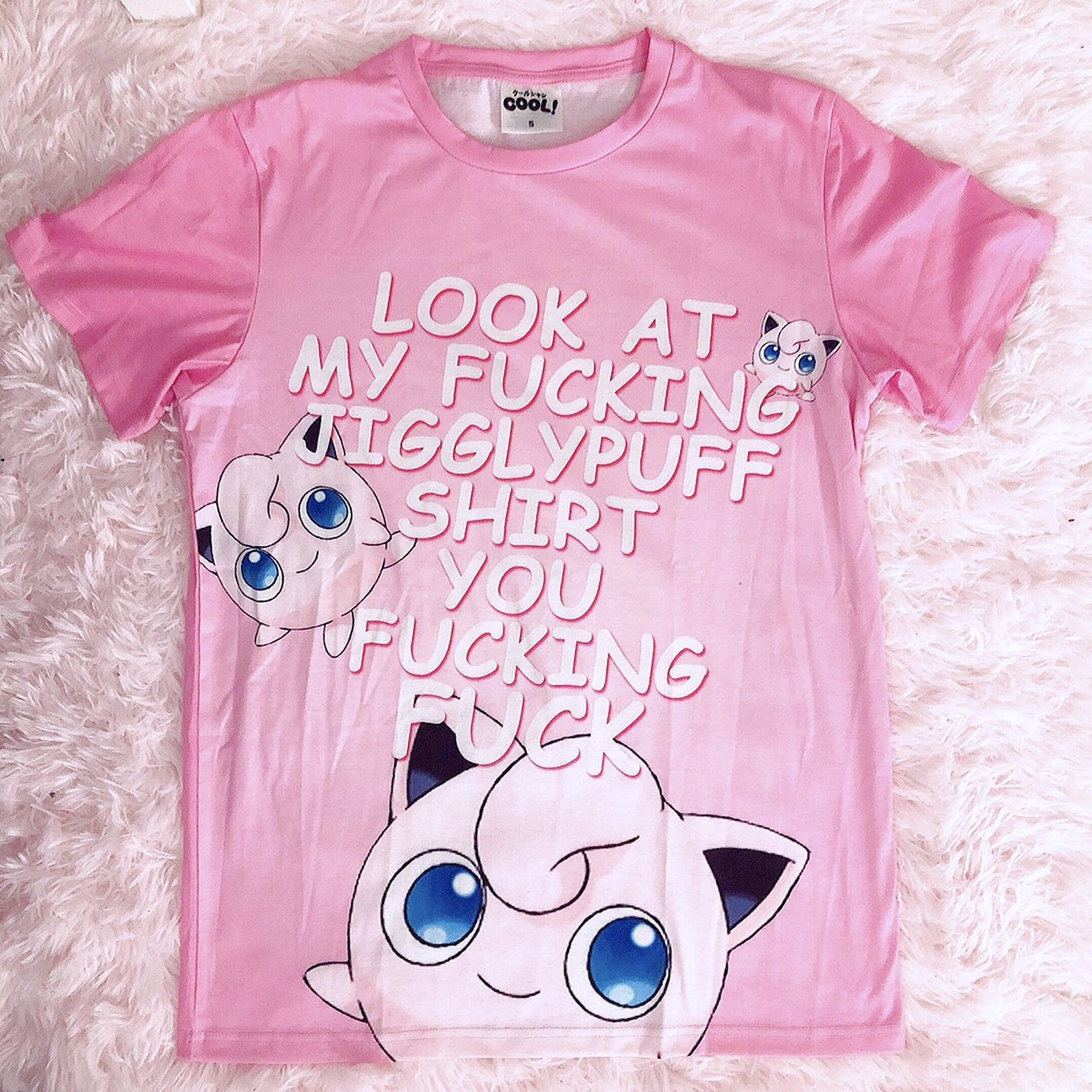 e0f9bb74 ... look at my ing jigglypuff shirt you ing from depop ...