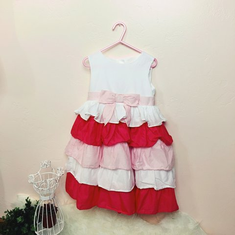 41d60622144a Toddler girls light pink, hot pink, and white dress by Only - Depop