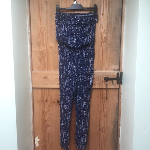c9a7115603 Hollister strapless jumpsuit. Elasticated ankles