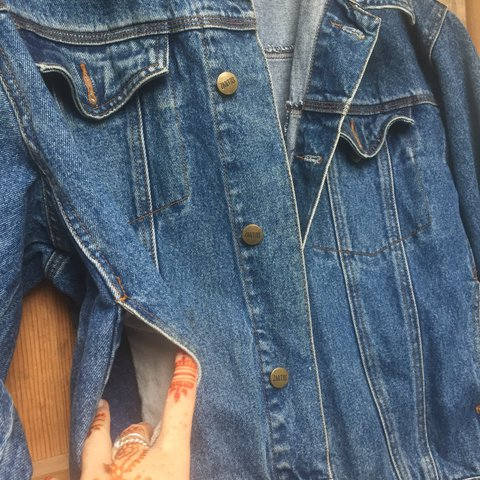 8b4f862516 Super cool oversized ZANTOS denim jacket. Perfect for the at - Depop