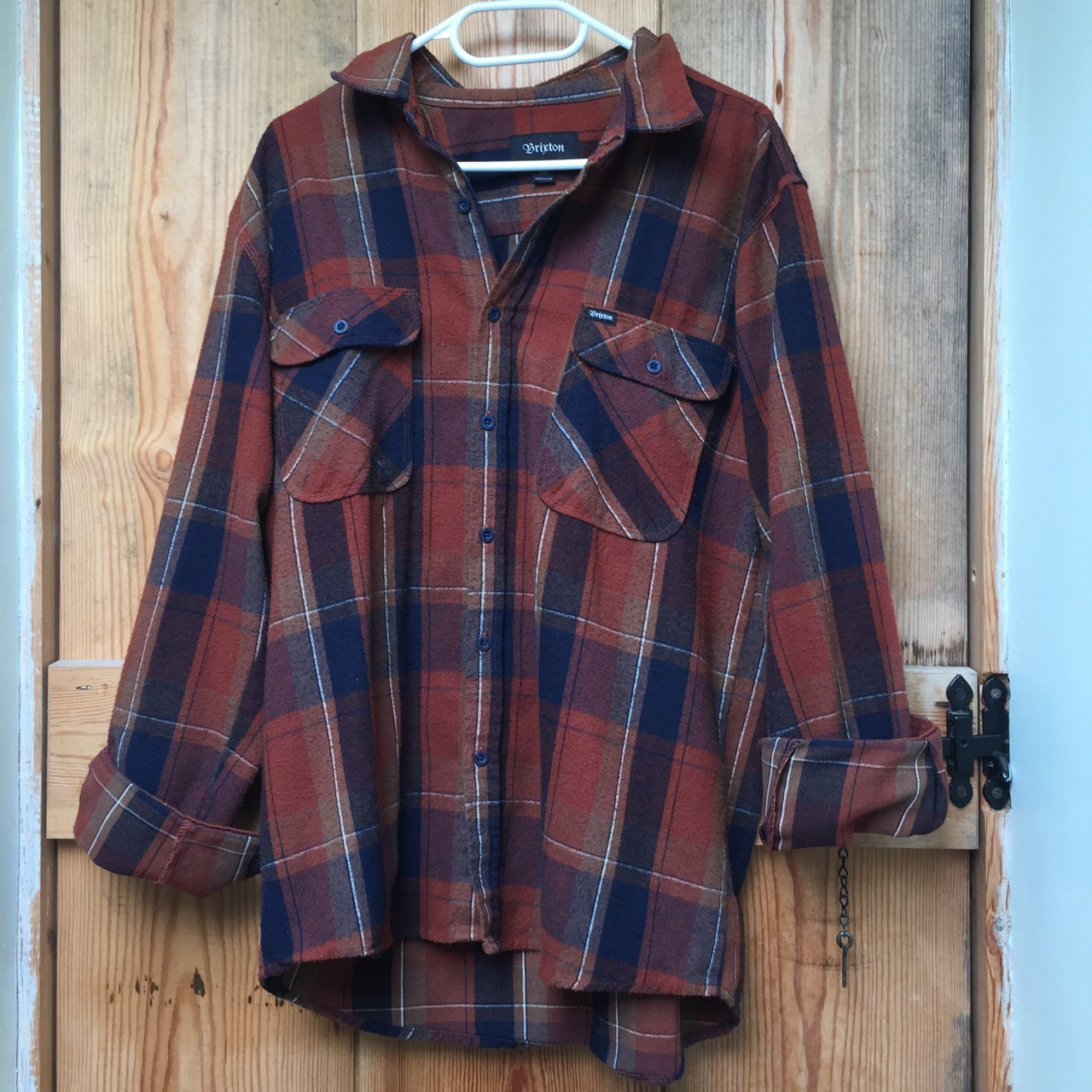 9e4a2f38d4 Brixton shirt. Really soft material. Almost woolly. Again I - Depop