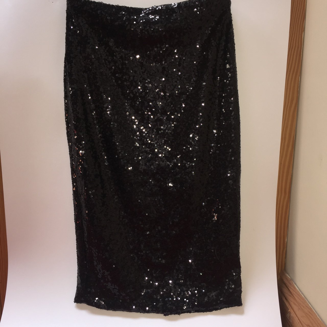 7bc94f9210 Black sequin misguided midi skirt. Size 6. Worn a few times. - Depop