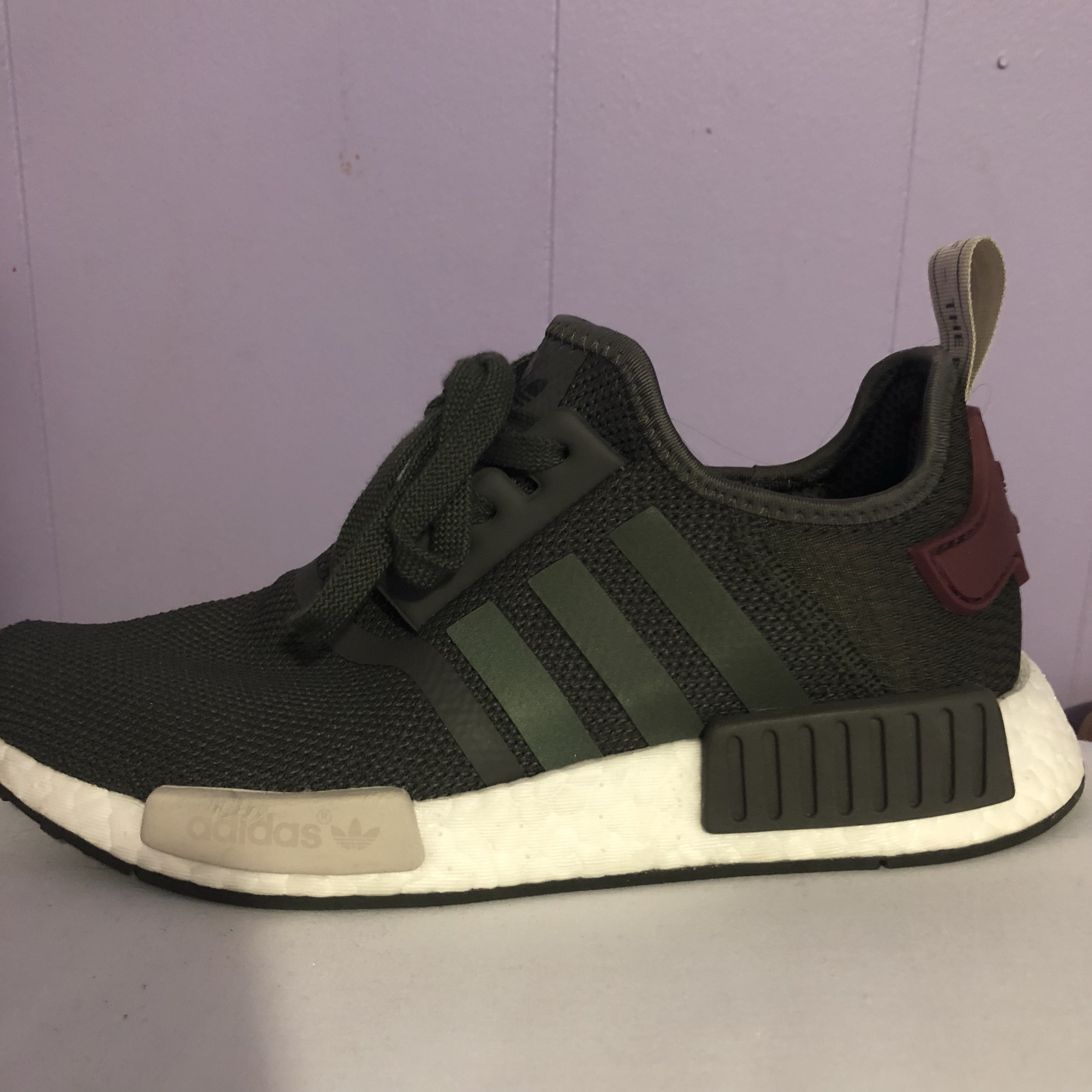 Adidas NMD Womens Grey And Maroon hopewontpaythewages.co.uk