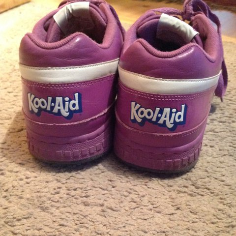 Old school Reebok limited edition grape kool aid shoes - Depop 80a72a5e9