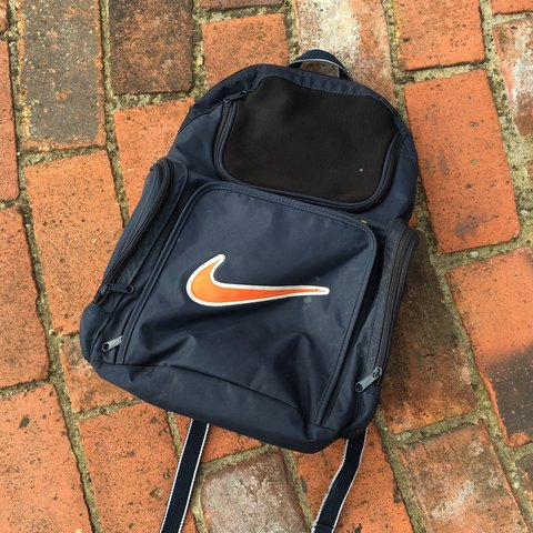 Vintage Nike swoosh backpack bag ✓ FREE UK POSTAGE the are - Depop d310696ecaeb9