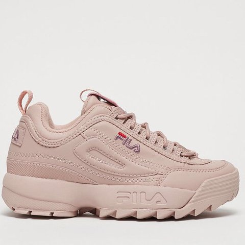Fila Disruptor trainers in pale pink