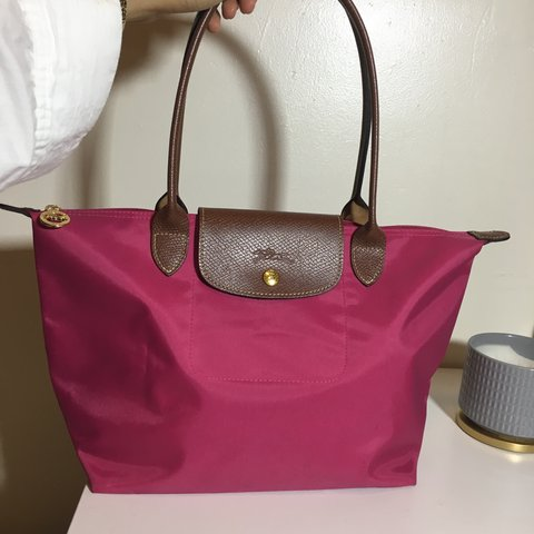 58b2b6b1c093 Pre-loved LE PLIAGE TOTE BAG in peony color size small. Used - Depop
