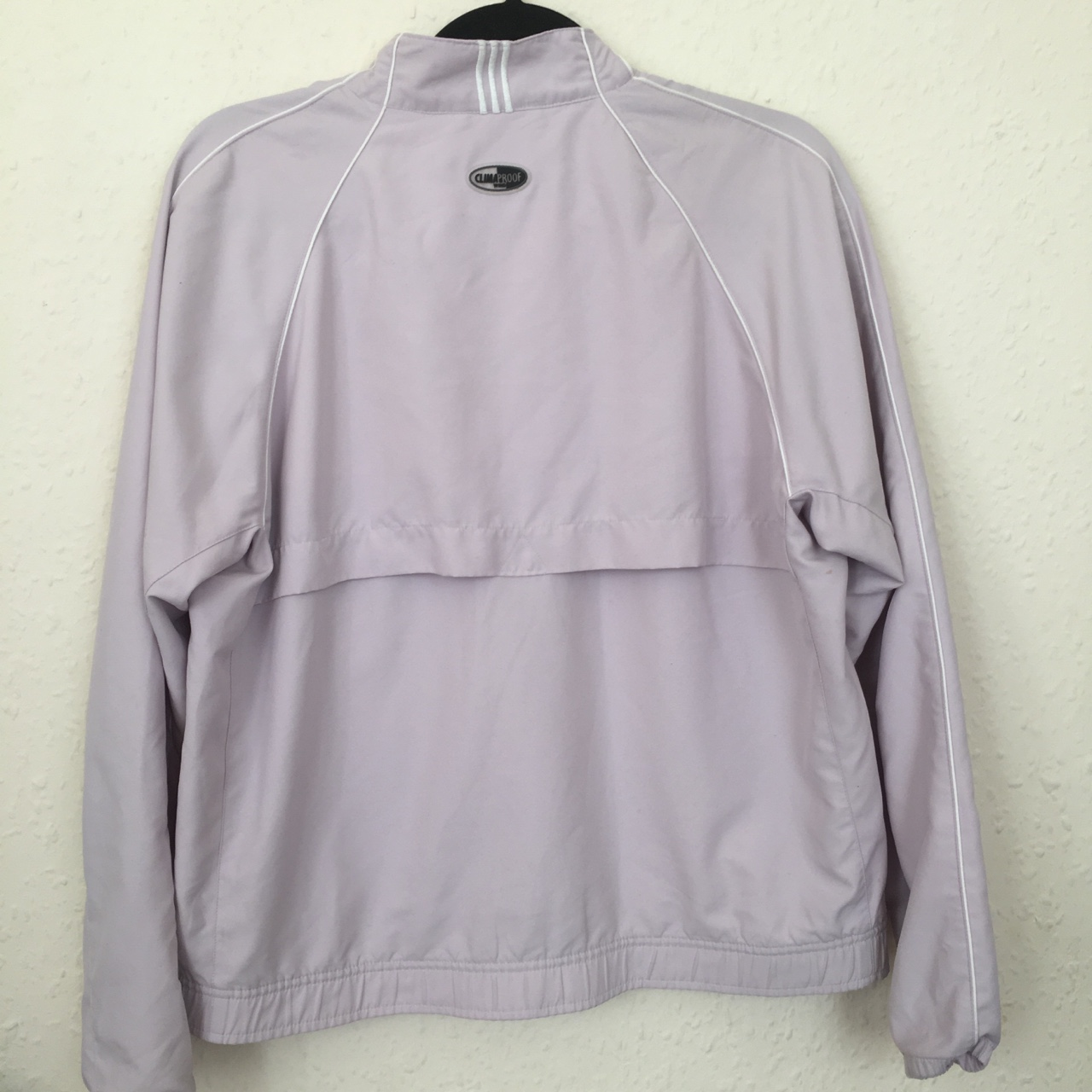 Adidas pink lilac bomber jacket. clima proof. Depop